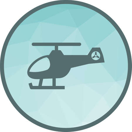 Helicopter, flight, sky icon vector image. Can also be used for vehicles. Suitable for use on web apps, mobile apps and print media.
