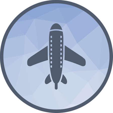 Flying Airplane Icon Фото со стока - 107107690