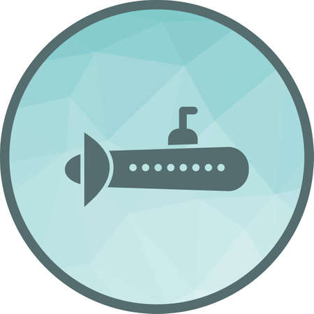 Submarine, parachuting, ship icon vector image. Can also be used for vehicles. Suitable for use on web apps, mobile apps and print media.