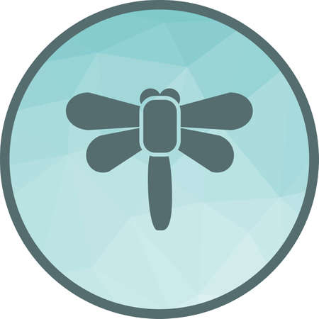 Flying, firefly, garden icon vector image. Can also be used for spring. Suitable for use on web apps, mobile apps and print media.