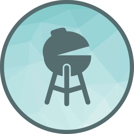 Food, barbeque, grill icon vector image. Can also be used for spring. Suitable for web apps, mobile apps and print media.