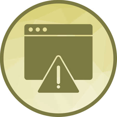 Warning on Browser Ilustrace