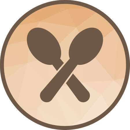 Spoon, fork, silver icon vector image. Can also be used for coffee shop. Suitable for use on web apps, mobile apps and print media.