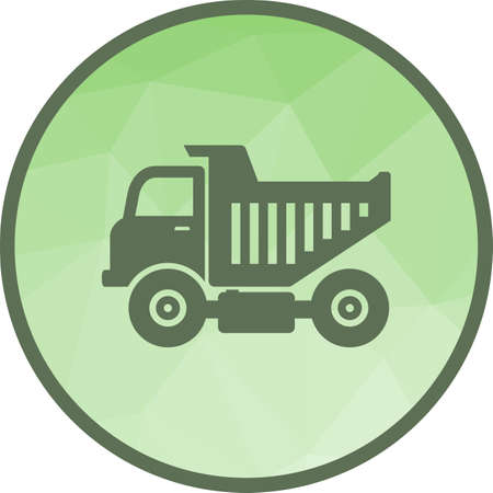 Truck, tipper, dump icon vector image. Can also be used for Industrial Process. Suitable for mobile apps, web apps and print media. Illustration