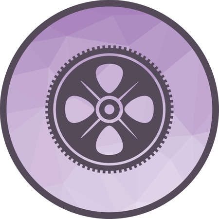 Cogwheel, engineering, gear icon vector image. Can also be used for Industrial Process. Suitable for mobile apps, web apps and print media. Ilustração