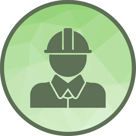Worker, construction, factory icon vector image. Can also be used for Industrial Process. Suitable for mobile apps, web apps and print media.