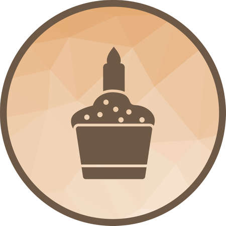 Candle on Muffin