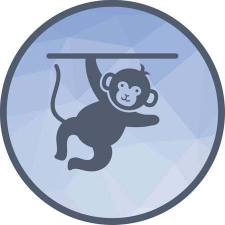 Circus, monkey, face icon vector image. Can also be used for circus. Suitable for mobile apps, web apps and print media. 向量圖像