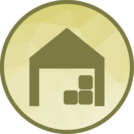 Warehouse, storage, distribution icon vector image. Can also be used for farm. Suitable for mobile apps, web apps and print media. Illustration
