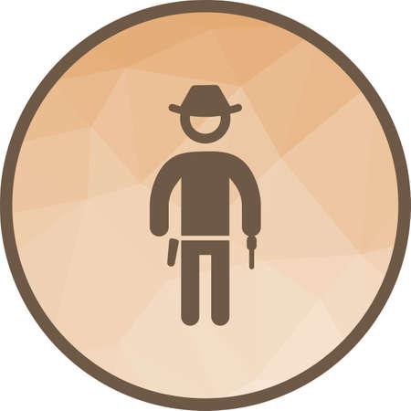 Cowboy with Gun Çizim