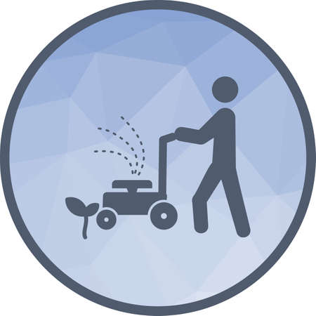 Person Mowing Grass