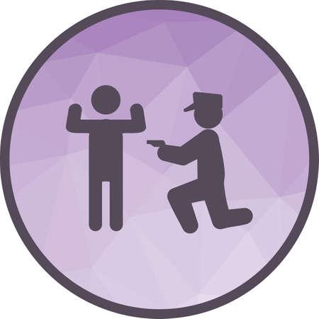 Policja aresztuje człowieka