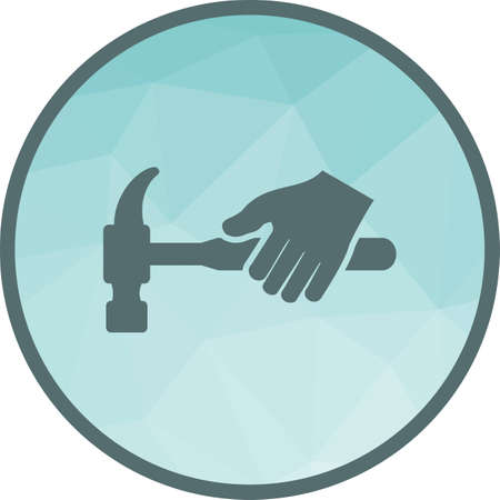 Hammer, tool, hardware icon vector image. Can also be used for hand actions. Suitable for use on web apps, mobile apps and print media. Illustration