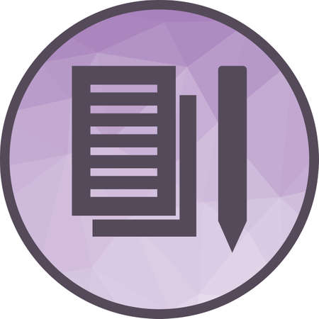 Taking, notes, writing icon vector image. Can also be used for startup. Suitable for web apps, mobile apps and print media. 일러스트