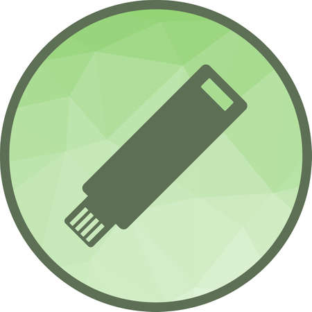 Flash, usb, drive icon vector image. Can also be used for startup. Suitable for mobile apps, web apps and print media. Illustration