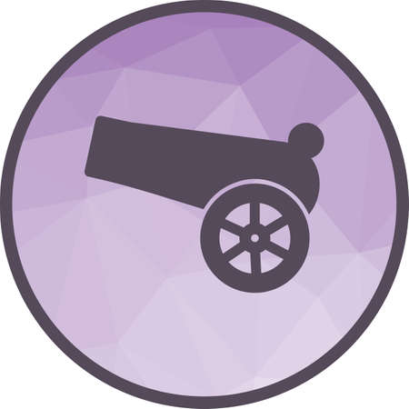 Ramadan, cannon, gun icon vector image. Can also be used for islamic. Suitable for mobile apps, web apps and print media.