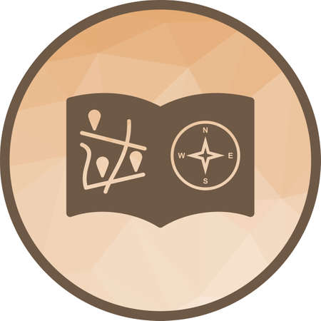 Books, globe, direction icon vector image. Can also be used for islamic. Suitable for mobile apps, web apps and print media. 일러스트