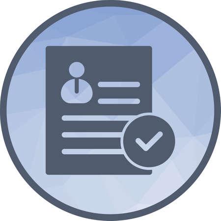Valid User Profile Vektorgrafik