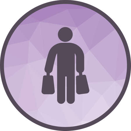 Shopping, mall, retail icon vector image. Can also be used for city lifestyle. Suitable for use on web apps, mobile apps and print media. Ilustrace