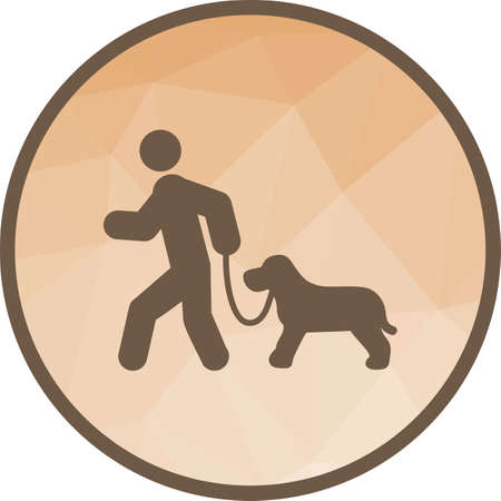 Dog, walking, park icon vector image. Can also be used for city lifestyle. Suitable for use on web apps, mobile apps and print media.