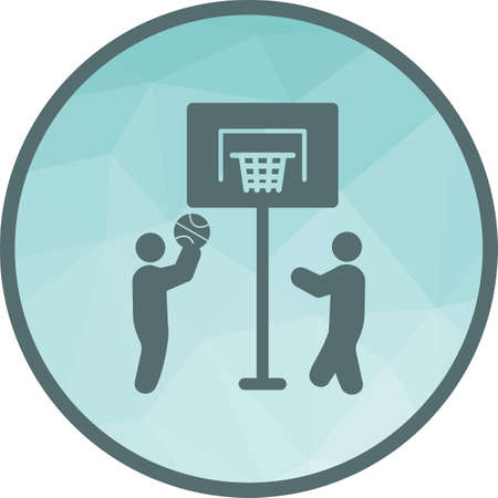 Kids Playing Basketball Banque d'images - 107257111