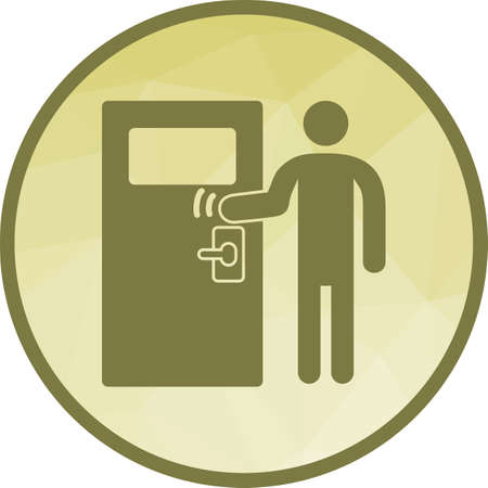 Door, knocking, delivery icon vector image. Can also be used for city lifestyle. Suitable for use on web apps, mobile apps and print media. 免版税图像 - 111489419