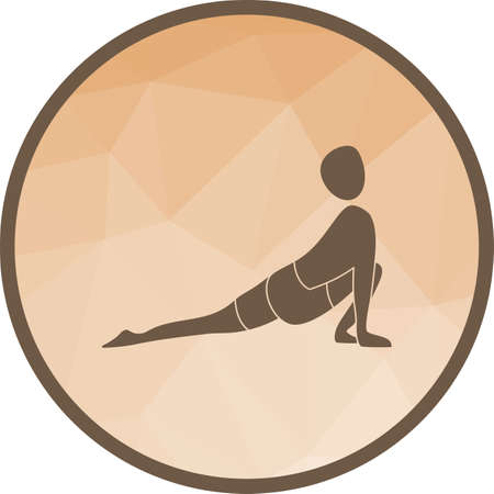 Low, lunge, yoga icon vector image. Can also be used for yoga poses. Suitable for mobile apps, web apps and print media.
