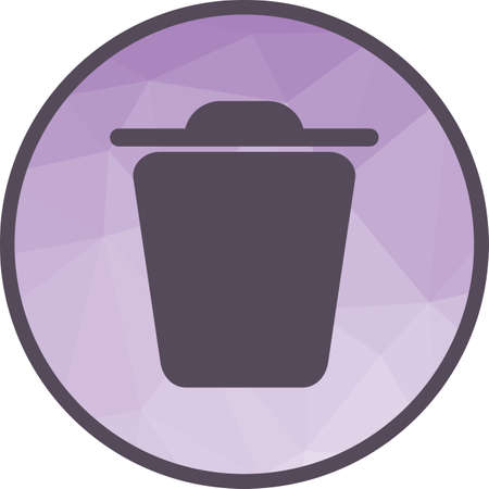 Trash, bin, file icon vector image. Can also be used for web interface. Suitable for mobile apps, web apps and print media.