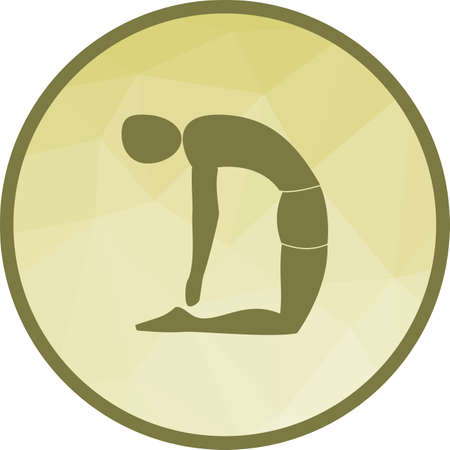 Pose, yoga, camel icon vector image. Can also be used for yoga poses. Suitable for mobile apps, web apps and print media.
