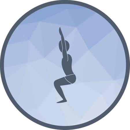 Chair, pose, yoga icon vector image. Can also be used for yoga poses. Suitable for mobile apps, web apps and print media.