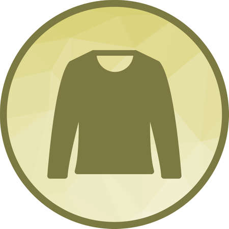 Sweater, warm, cozy icon vector image. Can also be used for autumn. Suitable for use on web apps, mobile apps and print media.
