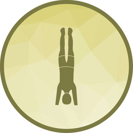 Pose, yoga, headstand icon vector image. Can also be used for yoga poses. Suitable for mobile apps, web apps and print media.