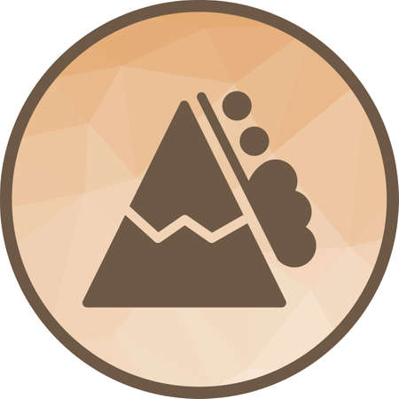 Snow, white, mountain icon vector image. Can also be used for disasters. Suitable for mobile apps, web apps and print media.