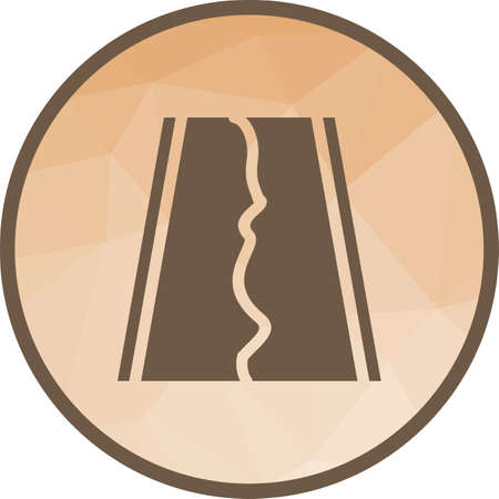 Earthquake on Road Illustration