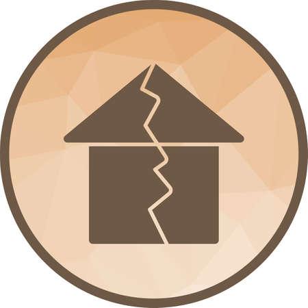 Earthquake Hitting House Illustration