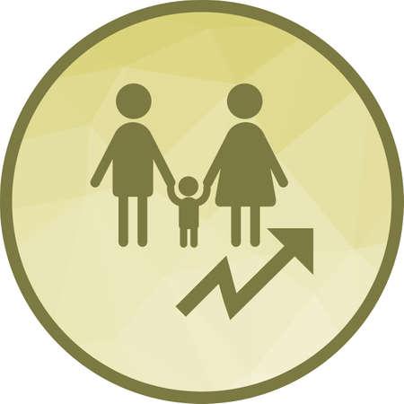 Crecimiento, población, imagen de vector de icono de gráfico. También se puede utilizar para la comunidad. Adecuado para aplicaciones móviles, aplicaciones web y medios impresos.