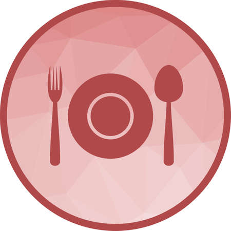 Party, dinner, served icon vector image. Can also be used for thanksgiving. Suitable for use on web apps, mobile apps and print media.