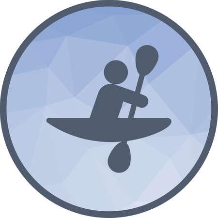 Kayak, rowing, sport Ilustração