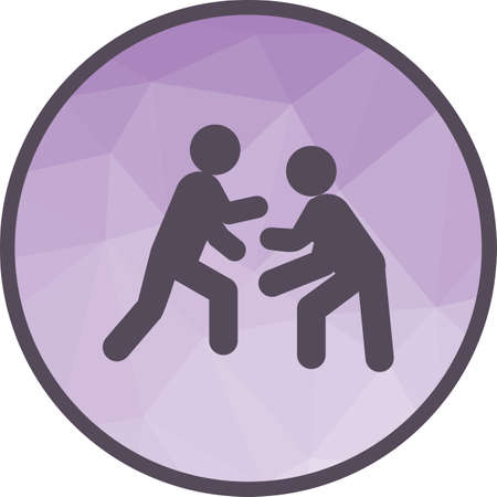 Wrestling, international Vektorové ilustrace