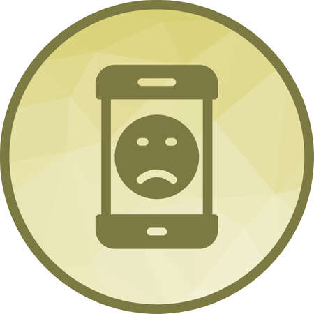 Smartphone, sad face, screen icon vector image. Can also be used for smartphone. Suitable for mobile apps, web apps and print media. 向量圖像