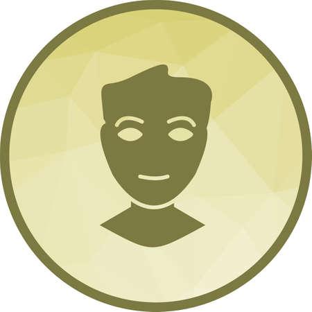 Human Face Icon Banque d'images - 108178006