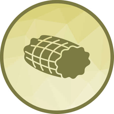 Ham, smoked, food icon vector image. Can also be used for european cuisine. Suitable for mobile apps, web apps and print media.