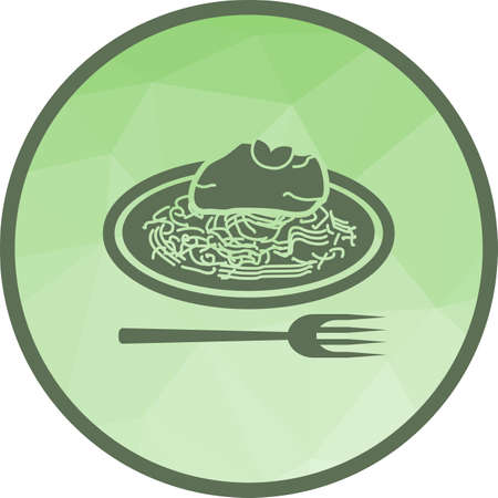 Spaghetti Bolognese Icon Imagens - 108178126