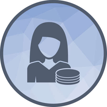 Woman Finances Icon