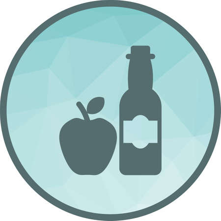 Vinegar, apple, cider icon vector image. Can also be used for european cuisine. Suitable for mobile apps, web apps and print media.