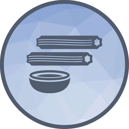 Churros, sweet, food icon vector image. Can also be used for european cuisine. Suitable for mobile apps, web apps and print media.