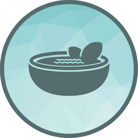 Gazpacho, food, bowl icon vector image. Can also be used for european cuisine. Suitable for mobile apps, web apps and print media. Illustration