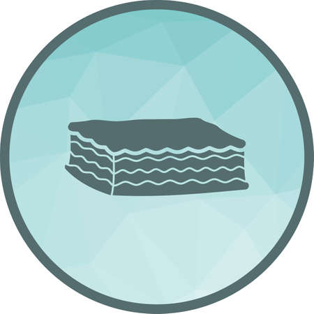 Lasagna, cheese, sauce icon vector image. Can also be used for european cuisine. Suitable for mobile apps, web apps and print media. Vetores