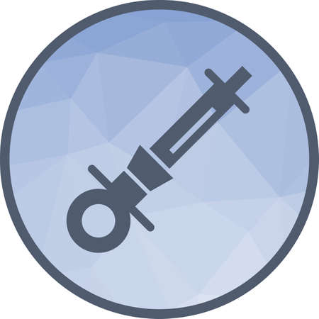 Syringe, dentist, anesthetic icon vector image. Can also be used for dentist equipment. Suitable for mobile apps, web apps and print media. Illustration