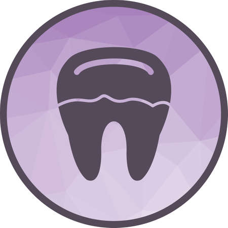 Tooth, decay, dental icon vector image. Can also be used for dentist equipment. Suitable for mobile apps, web apps and print media. Standard-Bild - 110013522